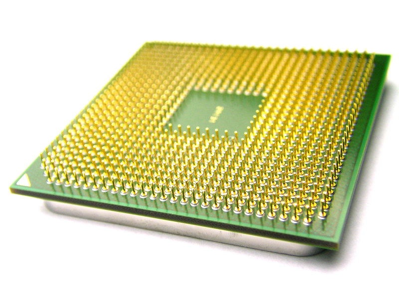 επεξεργαστής υπολογι&s στοκ φωτογραφία