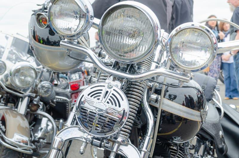 Επεξηγηματικό κύριο άρθρο: Ελαφριοί φραγμοί σωρών και λαβών του Harley Davidson στοκ εικόνες