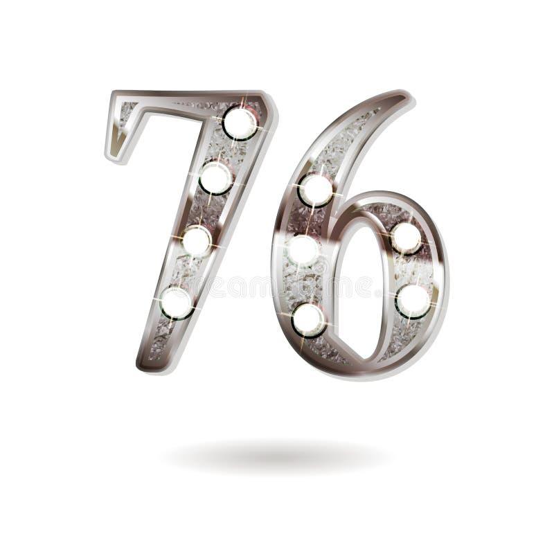 76 επετείου έτη σχεδίου εορτασμού απεικόνιση αποθεμάτων
