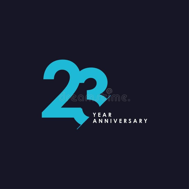 23 επετείου διανυσματικής προτύπων έτη απεικόνισης σχεδίου απεικόνιση αποθεμάτων