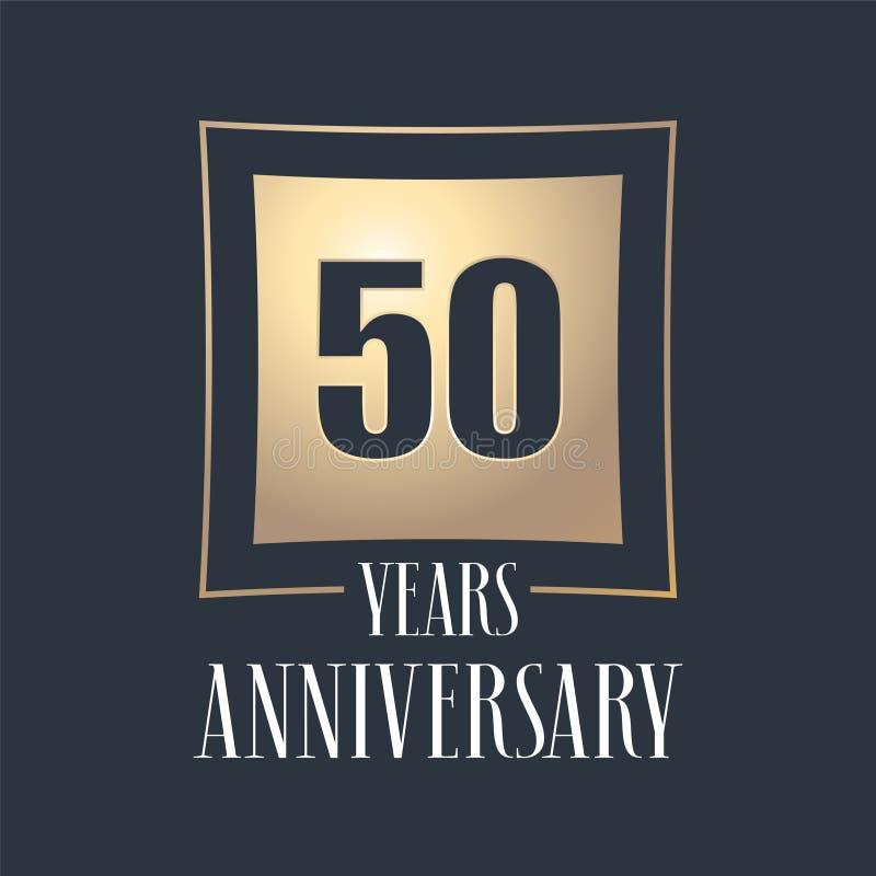 50 επετείου διανυσματικών έτη εικονιδίων εορτασμού, λογότυπο ελεύθερη απεικόνιση δικαιώματος