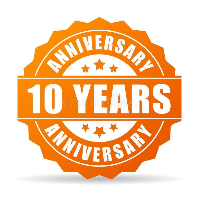 10 επετείου διανυσματικών έτη εικονιδίων εορτασμού διανυσματική απεικόνιση