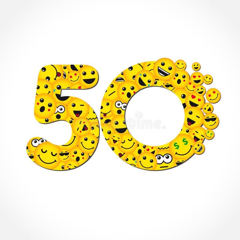50 επετείου συνομιλίας έτη λογότυπων αγγελιοφόρων ελεύθερη απεικόνιση δικαιώματος