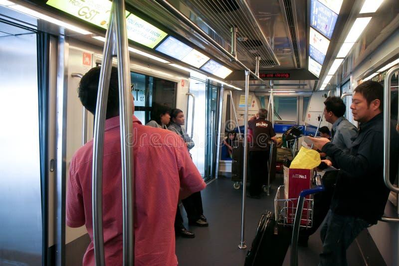 επιβάτες skytrain στοκ φωτογραφία με δικαίωμα ελεύθερης χρήσης