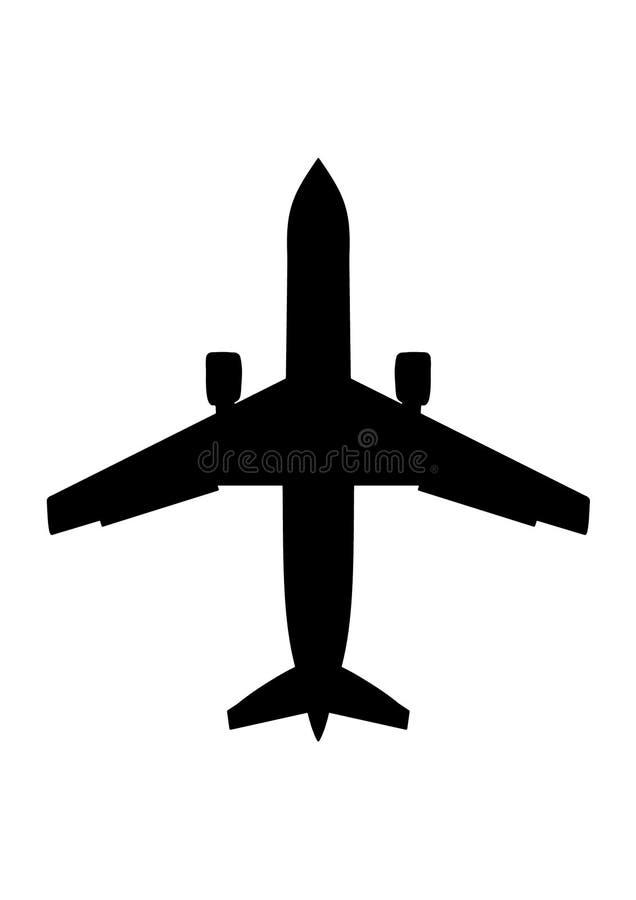 επιβάτης αεροπλάνων διανυσματική απεικόνιση