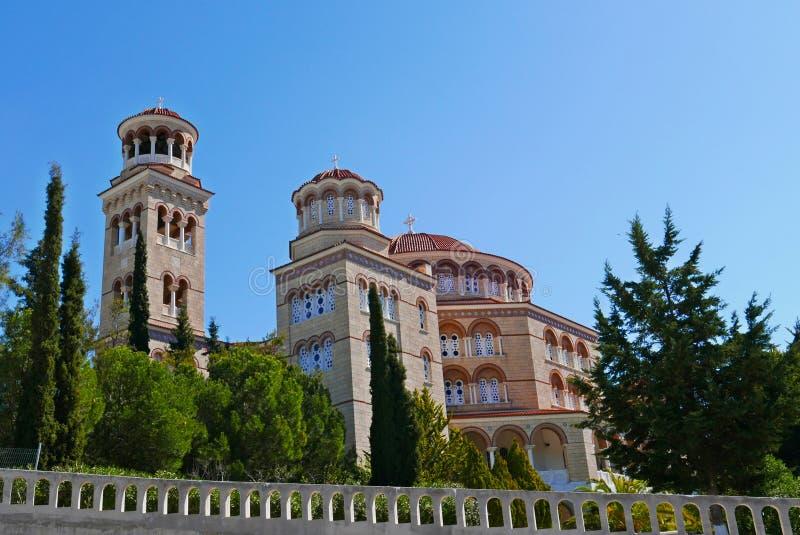 Επιβαρύνσεις Nektarios εκκλησιών στοκ φωτογραφία με δικαίωμα ελεύθερης χρήσης