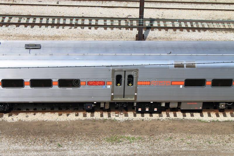 Τραίνο του Σικάγου στοκ φωτογραφία