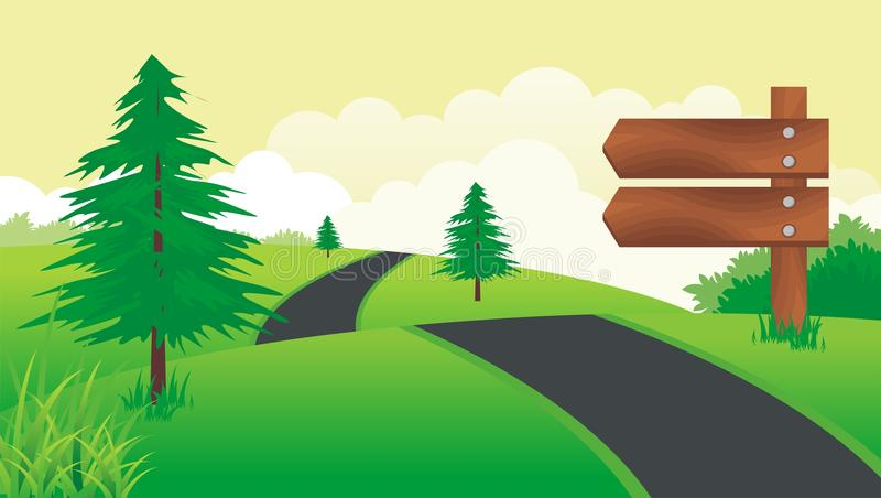 επιβιβαστείτε στο σημάδι ξύλινο ελεύθερη απεικόνιση δικαιώματος