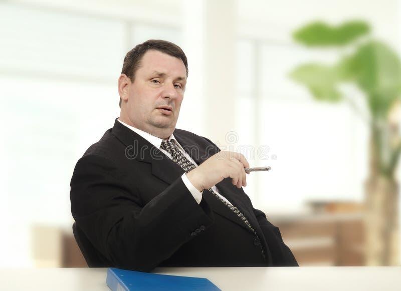 Επιβολή recruiter της συνέντευξης πίεσης αρχής στοκ εικόνα