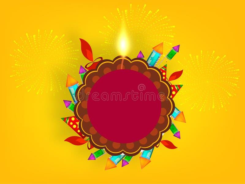 Επιγραφή ιστοχώρου απεικόνισης Diwali 2018 διανυσματική απεικόνιση
