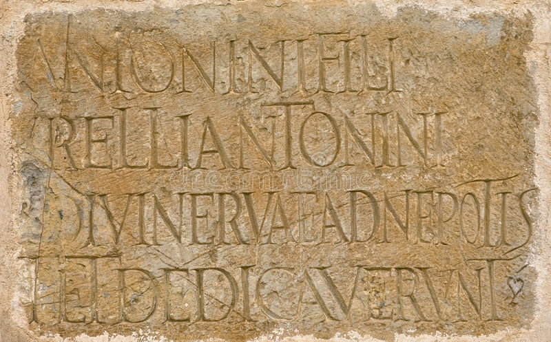 επιγραφή λατινικός Ρωμαίος στοκ φωτογραφία με δικαίωμα ελεύθερης χρήσης