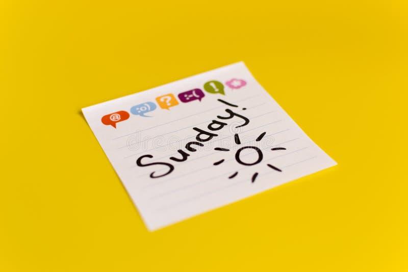 Επιγραφή στη μαύρη Κυριακή δεικτών στοκ εικόνα με δικαίωμα ελεύθερης χρήσης