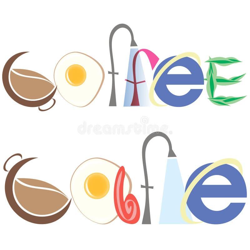Επιγραφή του καφέ και του καφέ στοκ φωτογραφία με δικαίωμα ελεύθερης χρήσης