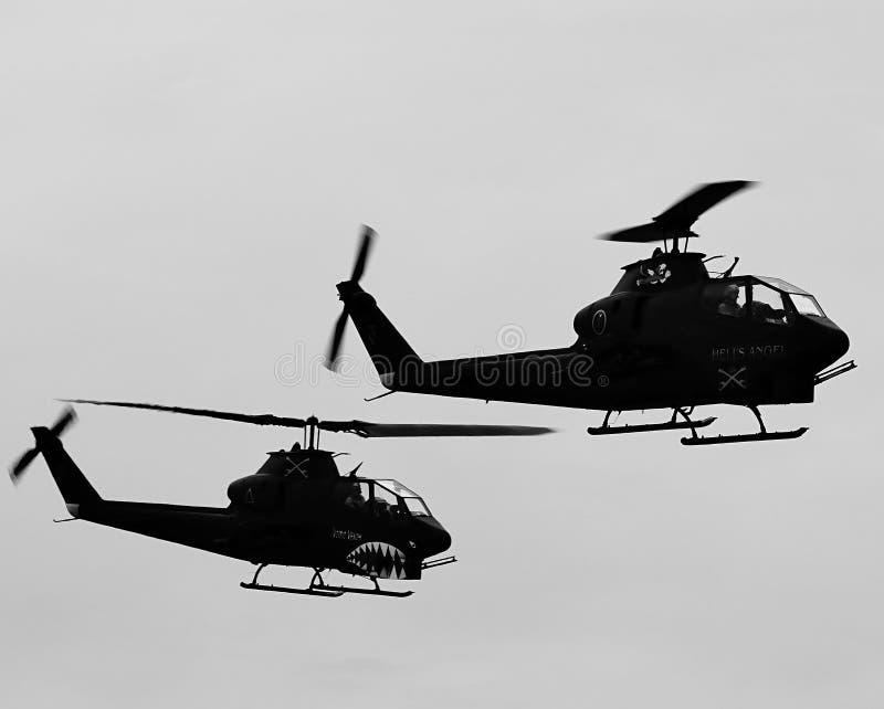 Επιθετικά ελικόπτερα στοκ εικόνα