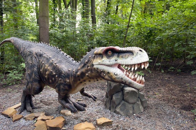 επιθετικός δεινόσαυρος στοκ φωτογραφία με δικαίωμα ελεύθερης χρήσης
