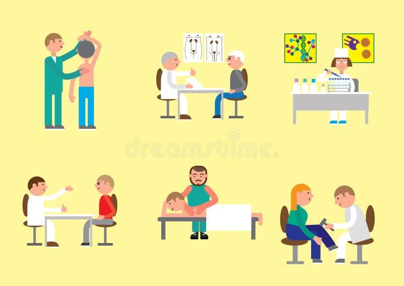 Επιθεώρηση γιατρών και ασθενών απεικόνιση αποθεμάτων