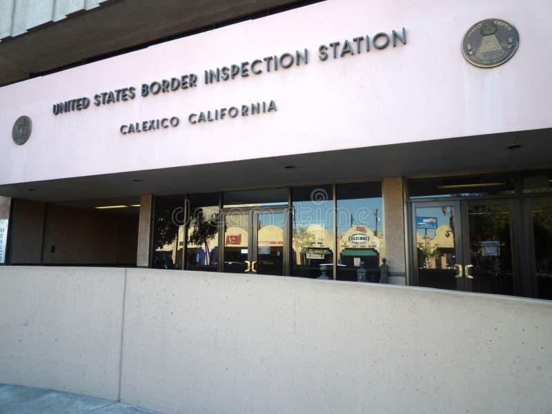 Επιθεώρηση στα σύνορα των ΗΠΑ στοκ φωτογραφία με δικαίωμα ελεύθερης χρήσης