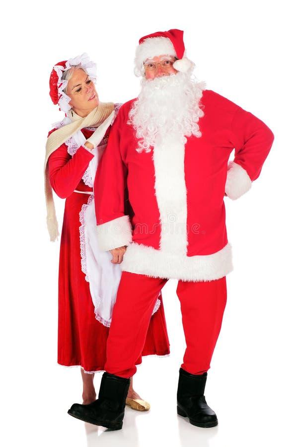 Επιθεώρηση Santa στοκ εικόνα