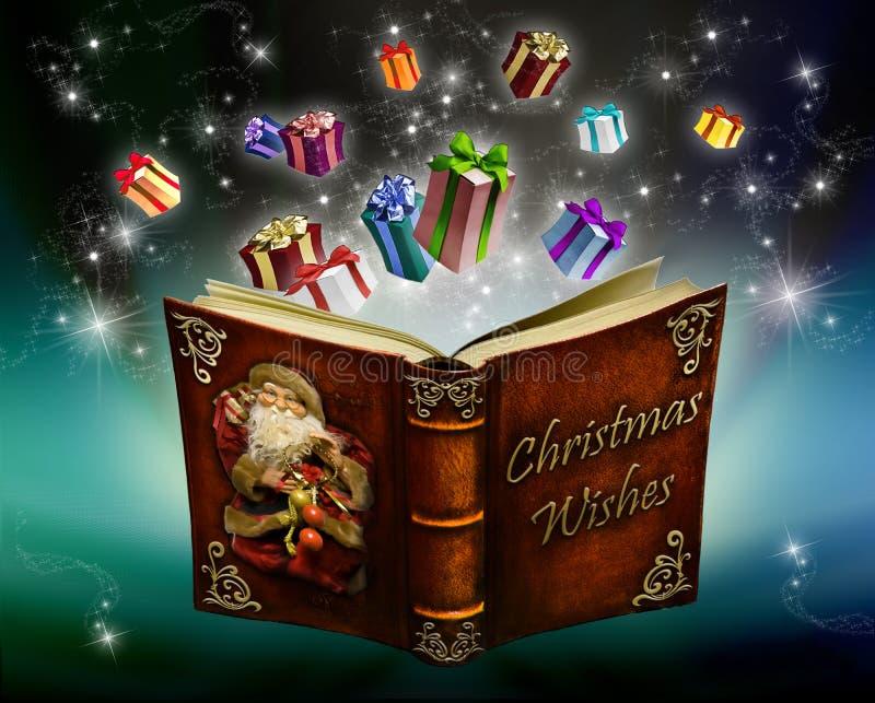 επιθυμίες Χριστουγέννω&nu διανυσματική απεικόνιση