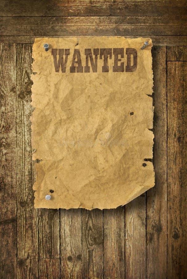 επιθυμητές αφίσα δυτικές στοκ φωτογραφίες