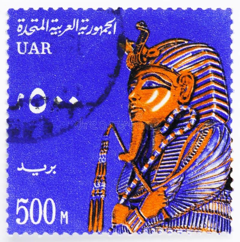 Επικήδεια μάσκα Tutankhamen, εθνικά σύμβολα serie, circa 1964 στοκ φωτογραφίες