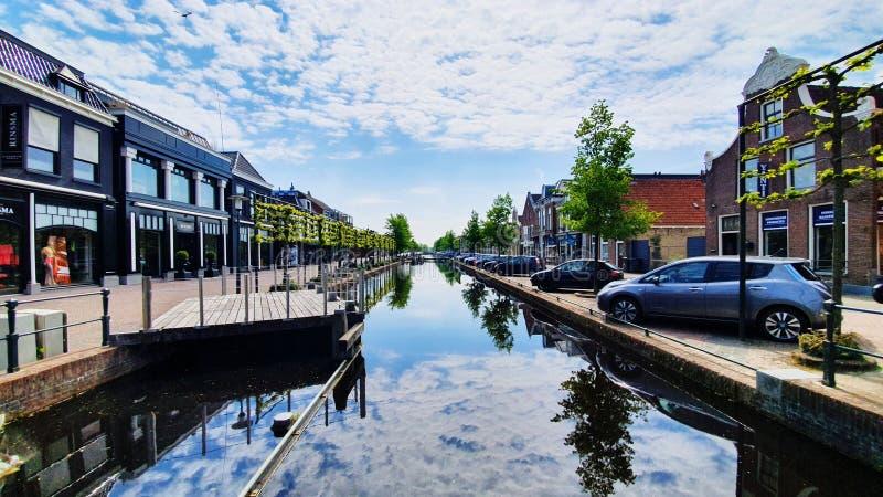 Επική εξαιρετικά ευρεία γωνία που πυροβολείται του gorredijk Κάτω Χώρες στοκ φωτογραφία