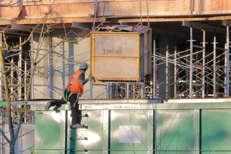 Επικίνδυνος στο εργοτάξιο εργασίας στοκ εικόνες