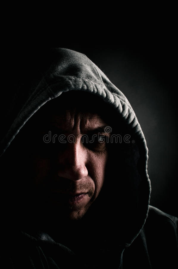 Επικίνδυνο άτομο στοκ φωτογραφίες