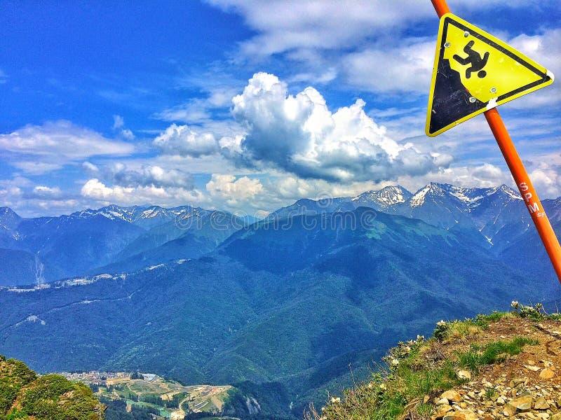 Επικίνδυνο βουνό στοκ φωτογραφία