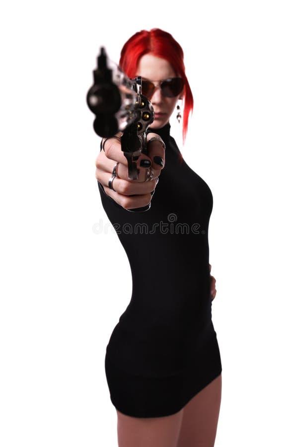 Επικίνδυνο νέο κορίτσι στοκ φωτογραφία