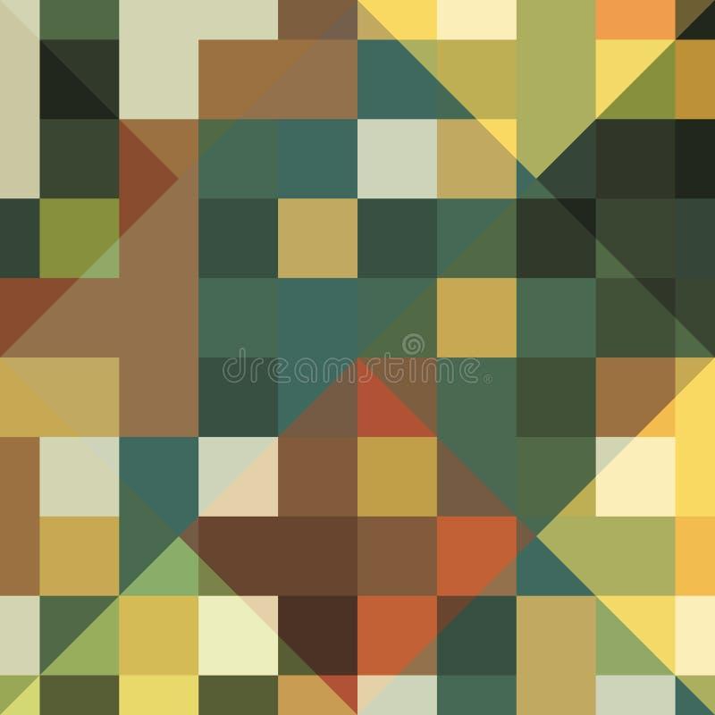 Επικαλύπτοντας πράσινο αφηρημένο υπόβαθρο τετραγώνων eps σχεδίου 10 ανασκόπησης διάνυσμα τεχνολογίας ελεύθερη απεικόνιση δικαιώματος