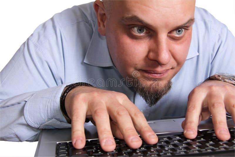 επικεφαλής έξω χρήστης υπολογιστή στοκ φωτογραφία με δικαίωμα ελεύθερης χρήσης