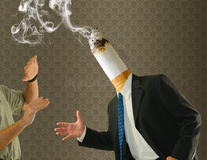 Επικεφαλής εκστρατεία διακοπής καπνίσματος τσιγάρων άκρης στοκ φωτογραφίες με δικαίωμα ελεύθερης χρήσης