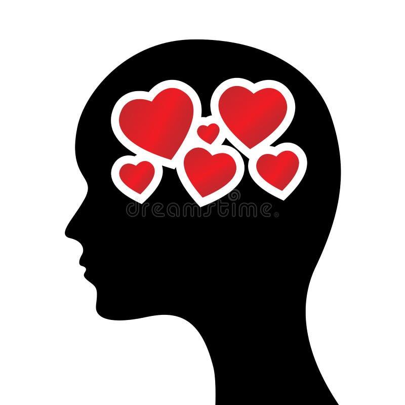 επικεφαλής καρδιές απεικόνιση αποθεμάτων