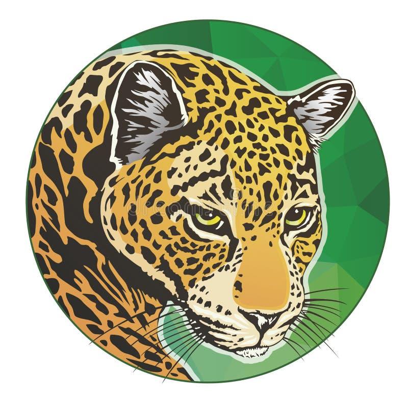 Επικεφαλής κύκλος ιαγουάρων απεικόνιση αποθεμάτων