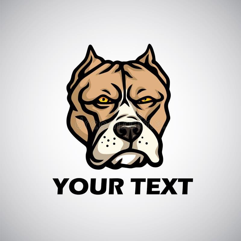 Επικεφαλής λογότυπο Pitbull επίσης corel σύρετε το διάνυσμα απεικόνισης διανυσματική απεικόνιση