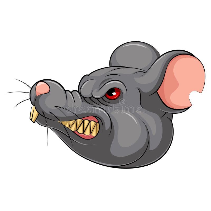 Επικεφαλής μασκότ ενός ποντικιού διανυσματική απεικόνιση
