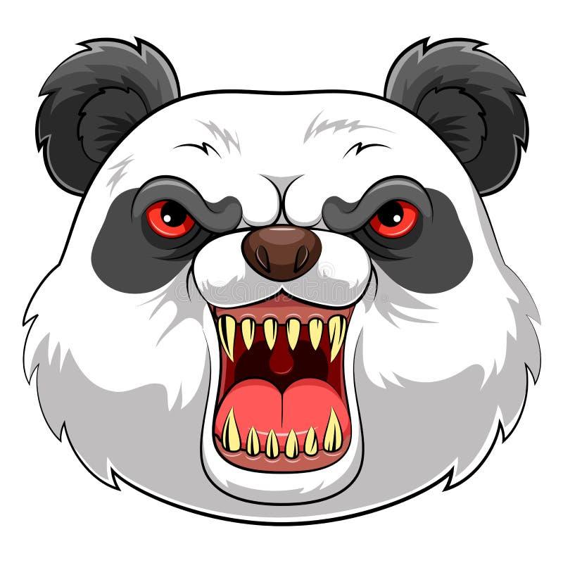 Επικεφαλής μασκότ ενός panda διανυσματική απεικόνιση