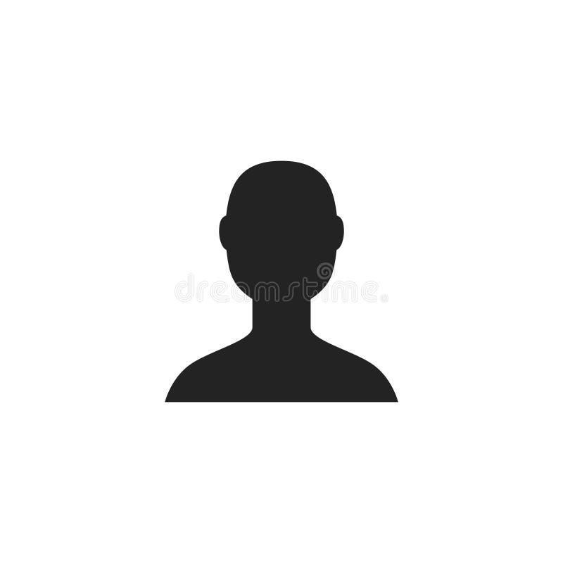 Επικεφαλής προσώπου εικονίδιο, σύμβολο ή λογότυπο Glyph διανυσματικό ελεύθερη απεικόνιση δικαιώματος