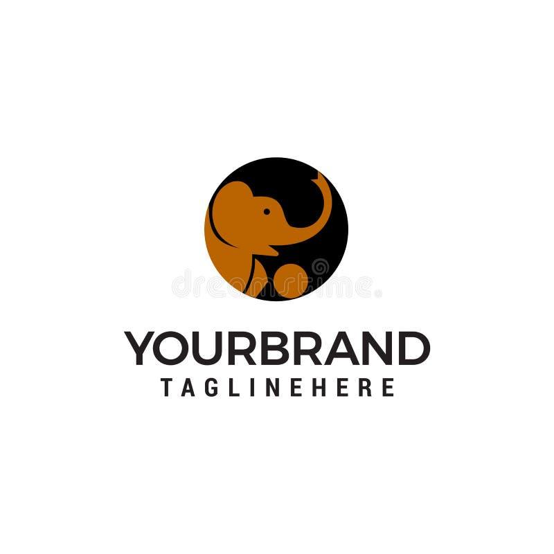 Επικεφαλής πρότυπο έννοιας σχεδίου λογότυπων ελεφάντων διανυσματική απεικόνιση