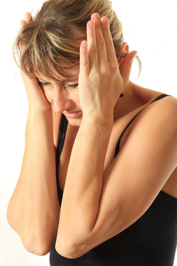 επικεφαλής πόνος πονοκέ&phi στοκ φωτογραφία με δικαίωμα ελεύθερης χρήσης