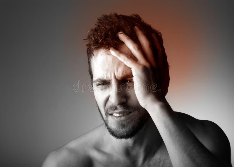 επικεφαλής πόνος στοκ φωτογραφία με δικαίωμα ελεύθερης χρήσης