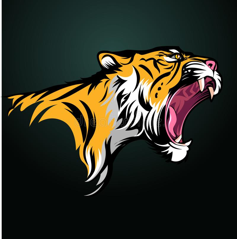 επικεφαλής τίγρη απεικόνιση αποθεμάτων