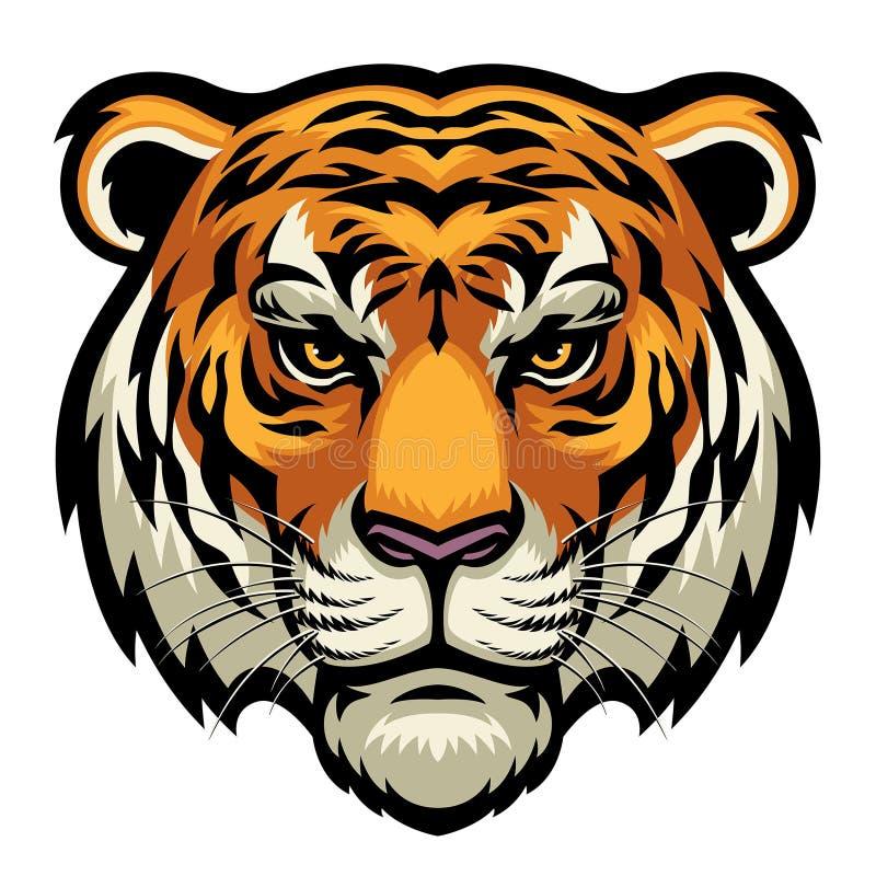 επικεφαλής τίγρη διανυσματική απεικόνιση