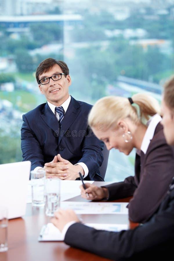 Επικεφαλής της συνεδρίασης στοκ φωτογραφία