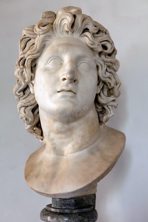 Επικεφαλής του Αλεξάνδρου ο μεγάλος στοκ εικόνες