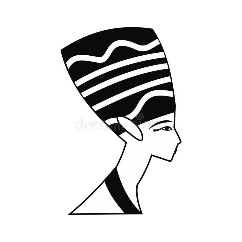 Επικεφαλής του εικονιδίου Nefertiti, απλό ύφος ελεύθερη απεικόνιση δικαιώματος