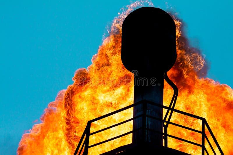 επικεφαλής φανοί αερίου περιβλημάτων στοκ εικόνα