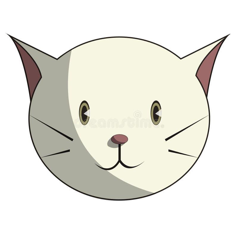 Επικεφαλής χαριτωμένο στρογγυλό πρόσωπο γατών ελεύθερη απεικόνιση δικαιώματος