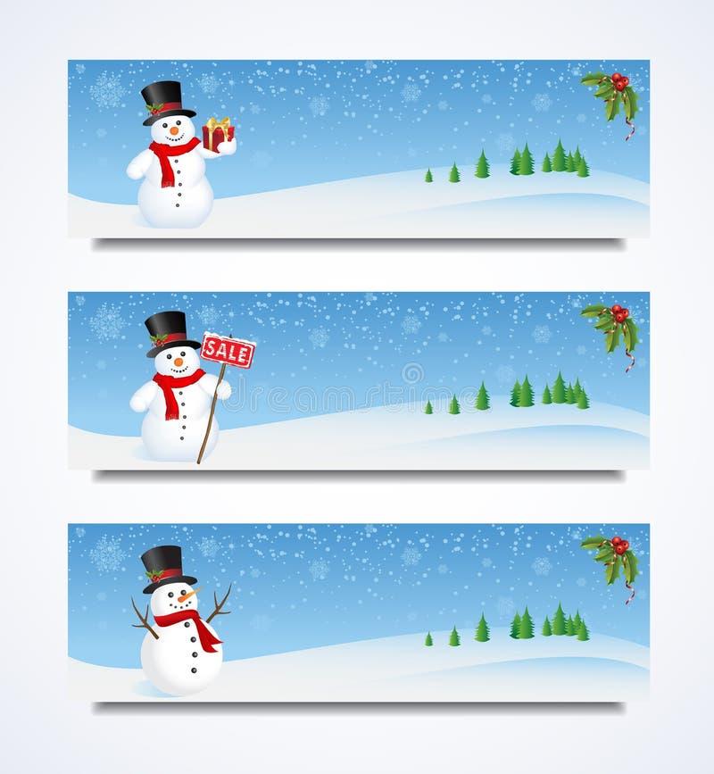 Επικεφαλίδα χιονανθρώπων ελεύθερη απεικόνιση δικαιώματος